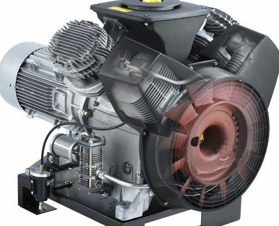 LT compressor with ghosted cooling system